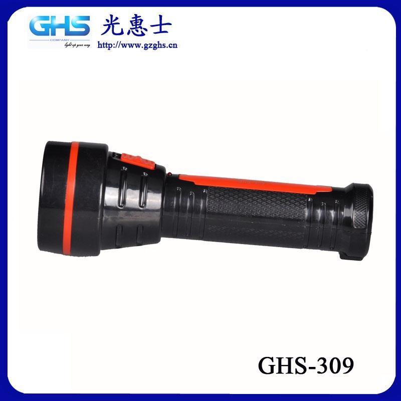 新款LED塑料充電手電筒 3