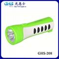 防滑LED塑料充電手電筒 2