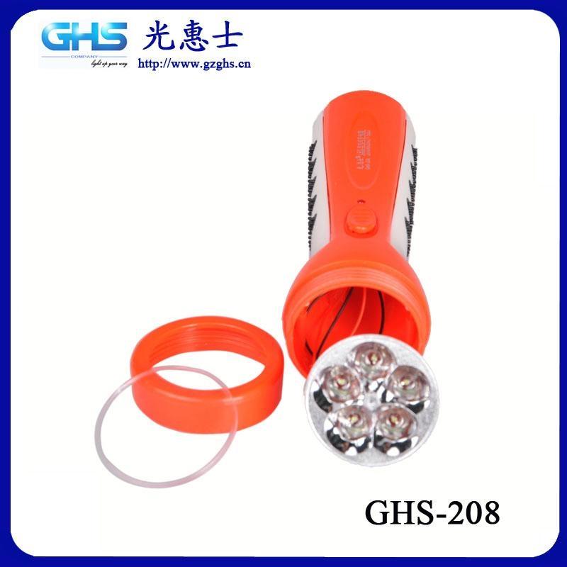 防滑LED塑料充電手電筒 4