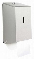Stainless Steel 2 Roll Toilet Tissue Dispenser (Cored Paper)