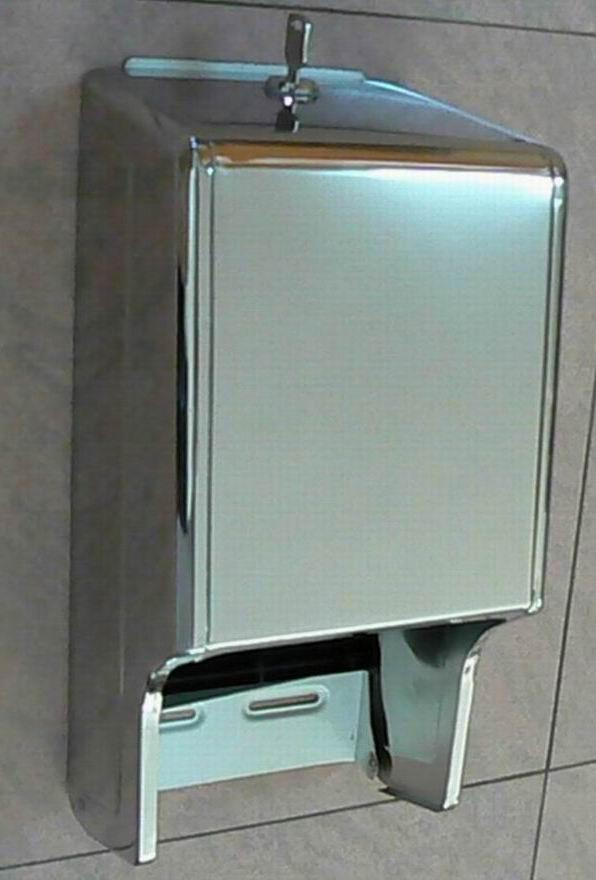 S/S Twin Roll Toilet Tissue Dispenser J-402RS 4