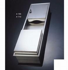 不鏽鋼 擦手紙架(配垃圾筒)