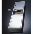 Stainless Steel Paper Towel Dispenser with Wastebin 1