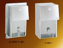 Stainless Steel Twin  Roll Tissue Dispenser