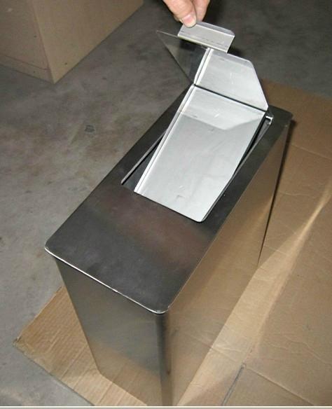 S/S  Sanitary Trash Bin J-350 1