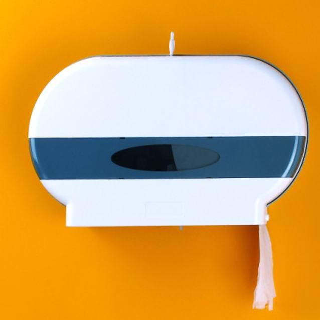 Twin Jumbo Roll Tissue Dispenser SHA-396 4