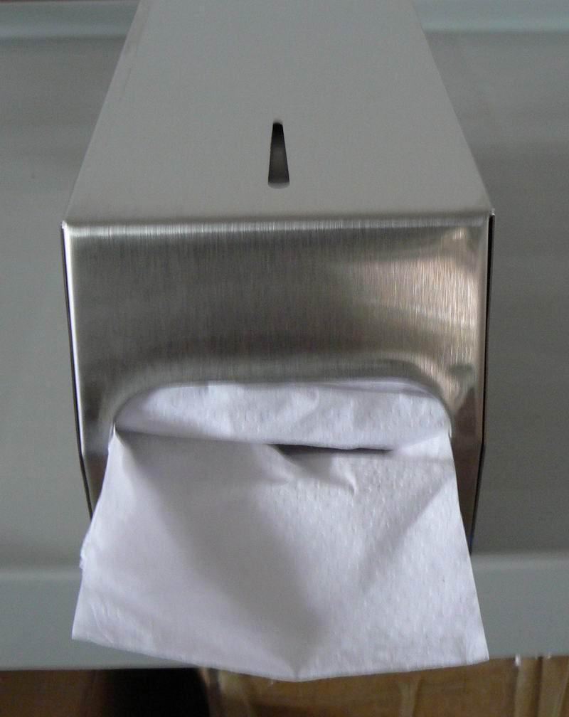 Stainless Steel Twin Pack Tissue Dispenser J-402FS 2