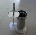 Free Standing Stainless Steel Toilet Brush Holder Set 2