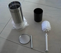 Free Standing Stainless Steel Toilet Brush Holder Set 3