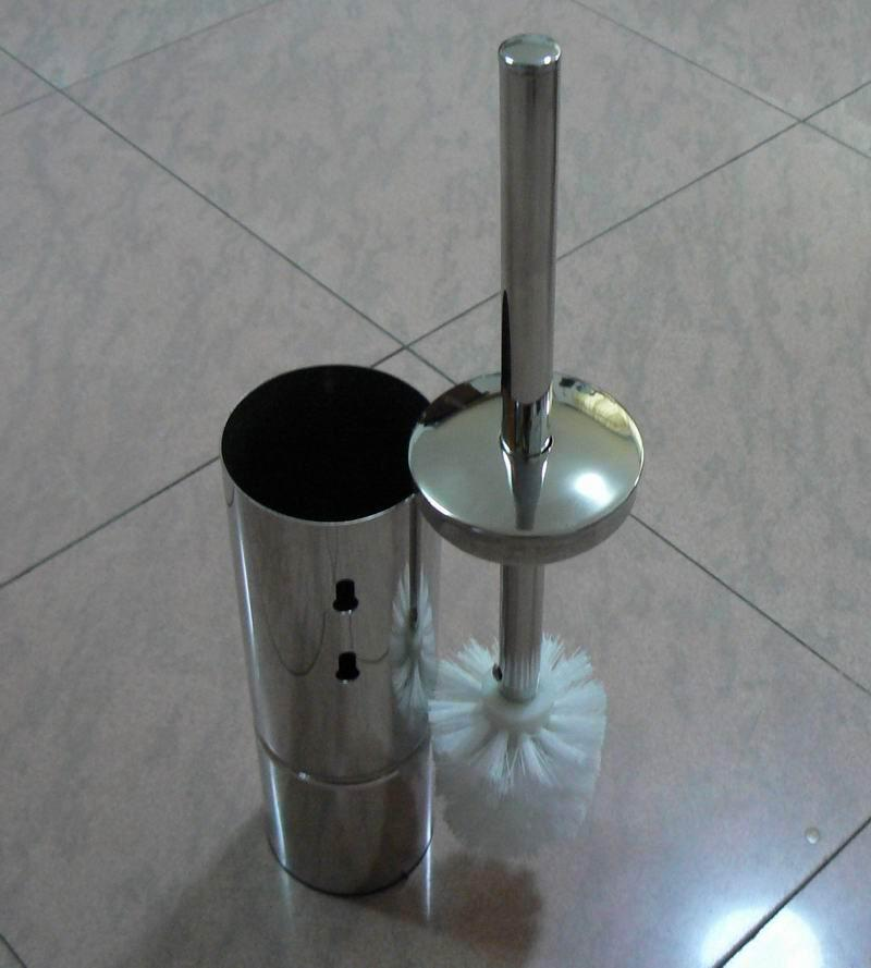Free Standing Stainless Steel Toilet Brush Holder Set 5