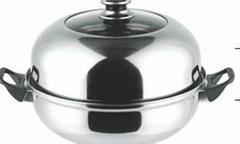 不鏽鋼湯蒸多用鍋