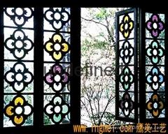 定制 岭南风情满洲窗 木质工艺 明清仿古门窗