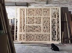 明清风格装饰仿古工艺 实木花格仿古门窗