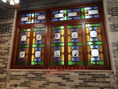 明清风格酒楼装饰仿古实木工艺满洲仿古门窗