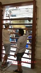 广州仿制清末民初风格实木仿古满洲窗厂家