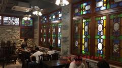 家居仿古装饰仿古入色木制满洲窗
