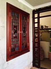 珠光路 定製客廳會所實木嶺南特色窗滿洲窗