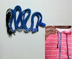 Stylish washable waterproof earphones braided wire headphones