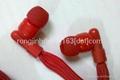 2013 new hot sell garment collar headphones washable earphoens waterproof  2