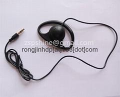 Professional Ear Hook Earphone Meeting Monitar headphone with 3.5mm Stereo Jack