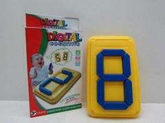 益智数字拼图拼版吹塑玩具