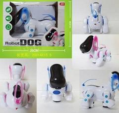 带灯光音乐万向电动狗玩具