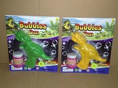 仿真恐龙惯性泡泡枪玩具