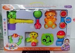 婴幼儿童床铃摇铃铃鼓BB响锤玩具