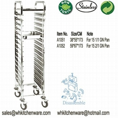 Stainless steel Higher GN Pan Trolley