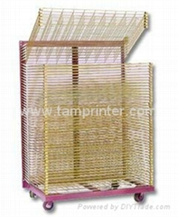 TM-50DG galvanized 50 Layers Screen Printing Drying Racks