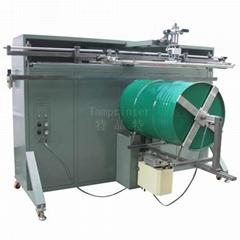 转盘非标大型油桶圆面丝印机