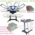 6-Color garment Screen Printer