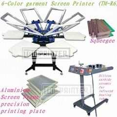 6-Color garment Screen Printer TM-R6