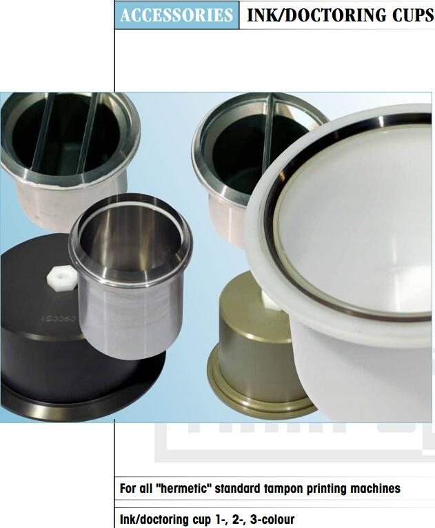 plastic Ink Cup for tampoprint Pad Printing machines 9