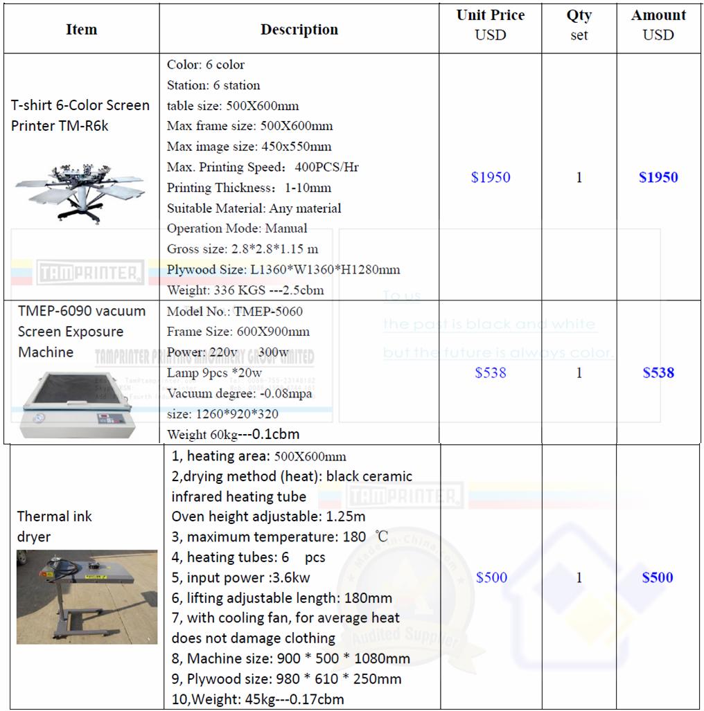 6-Color Manual Carousel Textile Screen Printing Machine TM-R6k 2