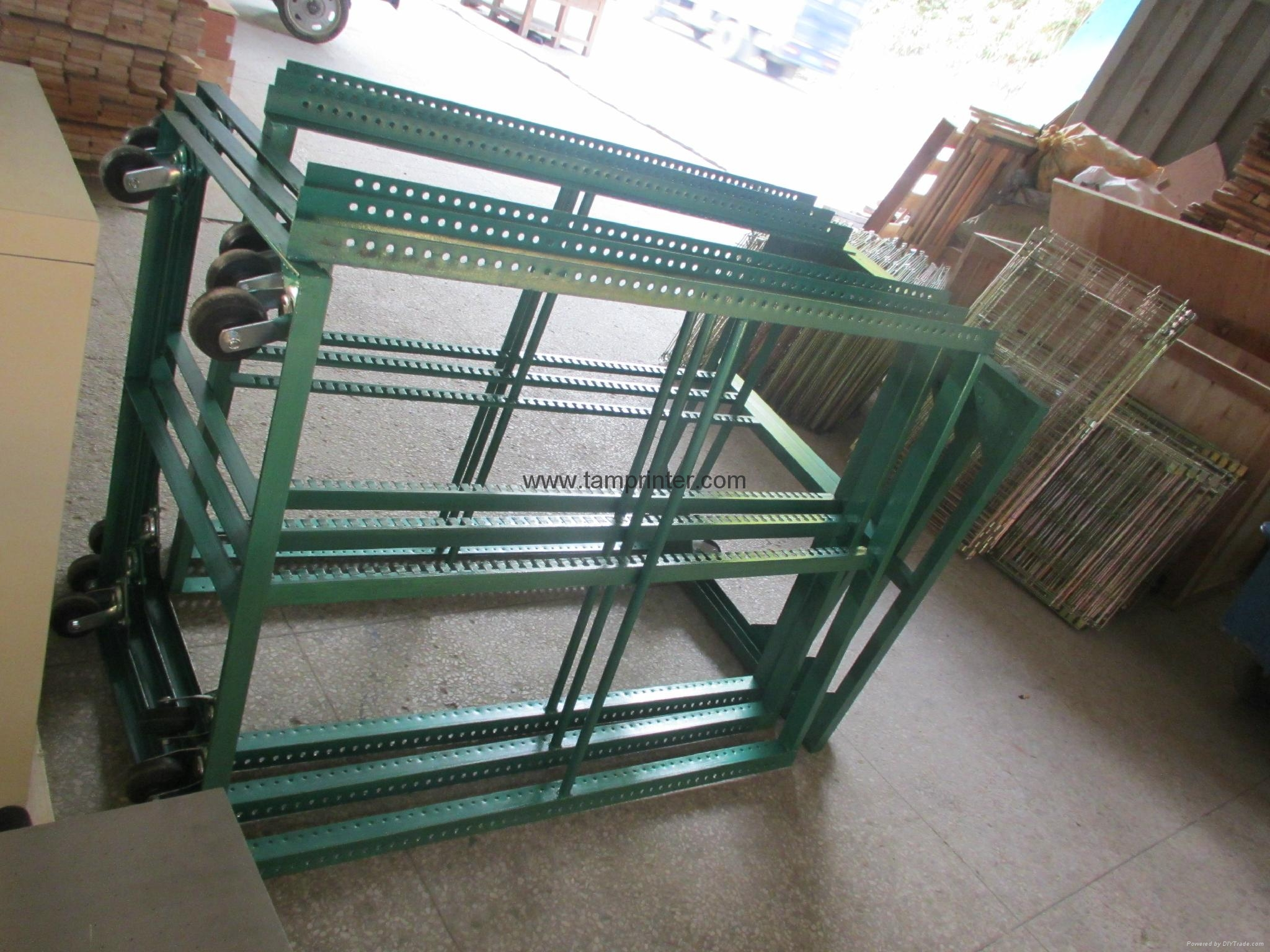 TM-50DG galvanized 50 Layers Screen Printing Drying Racks 14