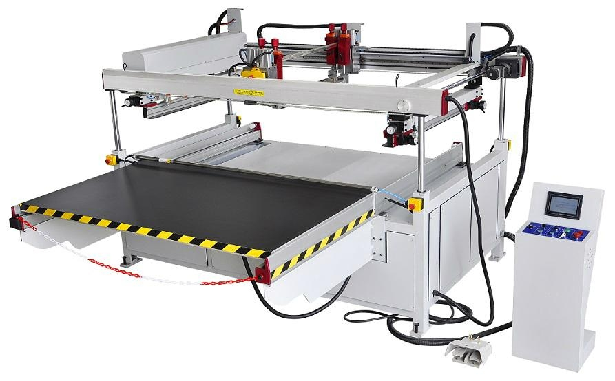 large 4 pillar semi glass Screen Printer