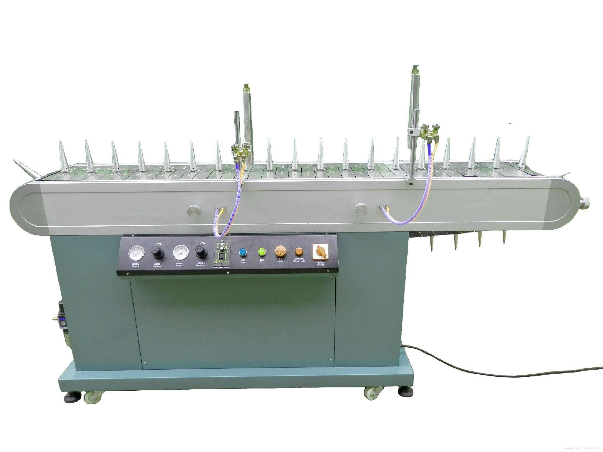 burner flame treatment machine