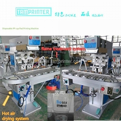 PP Plastic Disposable cup pad printing machine