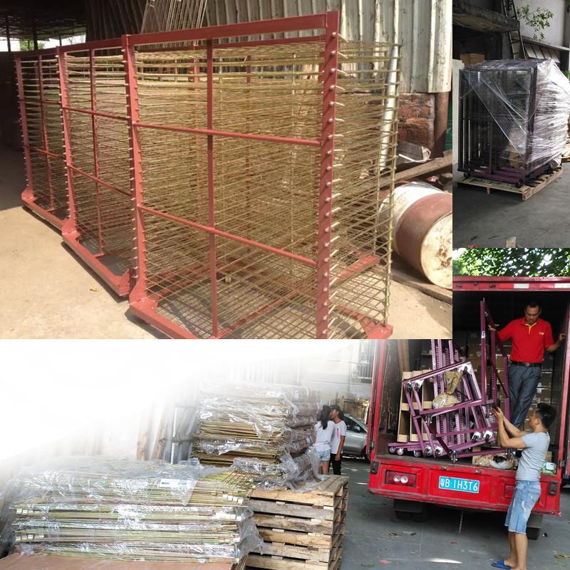 TM-50DG galvanized 50 Layers Screen Printing Drying Racks 4