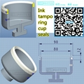 plastic Ink Cup for tampoprint Pad Printing machines 4