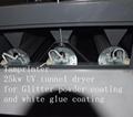 25kw UV tunnel dryer for Glitter powder coating and uv glue coating