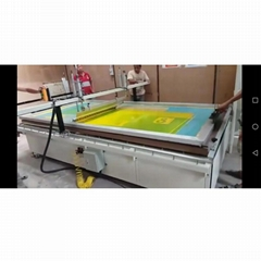 big Glass Manual screen printing machine with vacuum