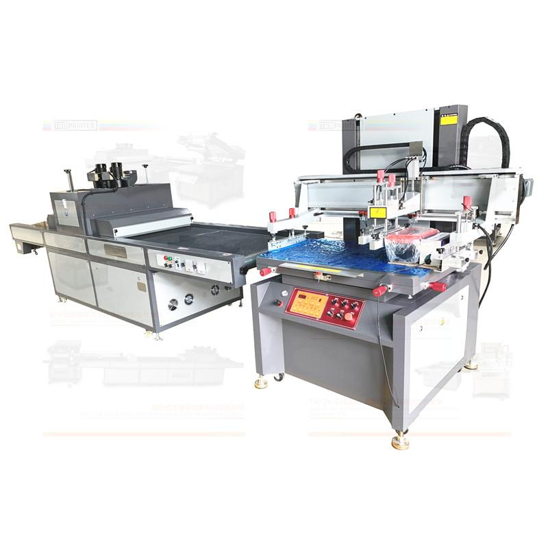 Electric vertical screen printing machine with uv tunnel  curing machine  1