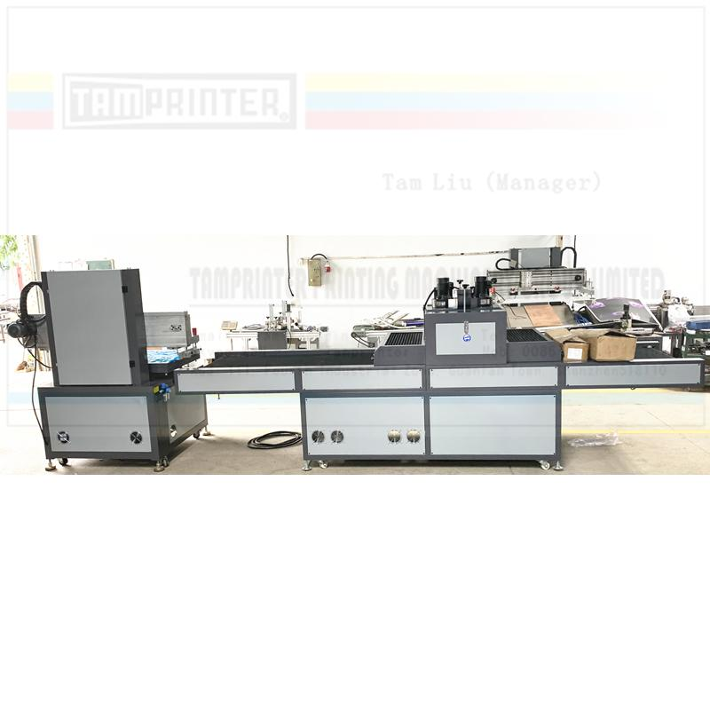 Electric vertical screen printing machine with uv tunnel  curing machine  6