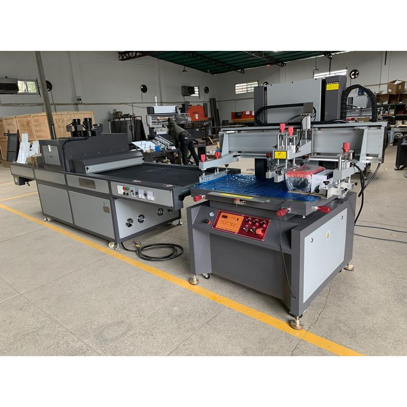 Electric vertical screen printing machine with uv tunnel  curing machine  2