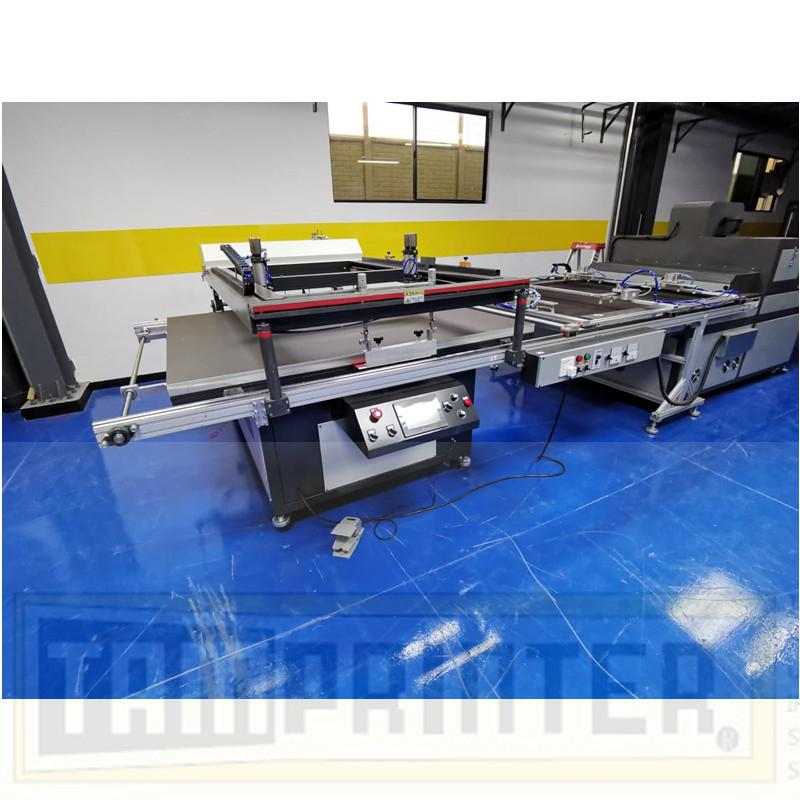 big size Automatic screen printing machine for sheet with automatic blanking 6