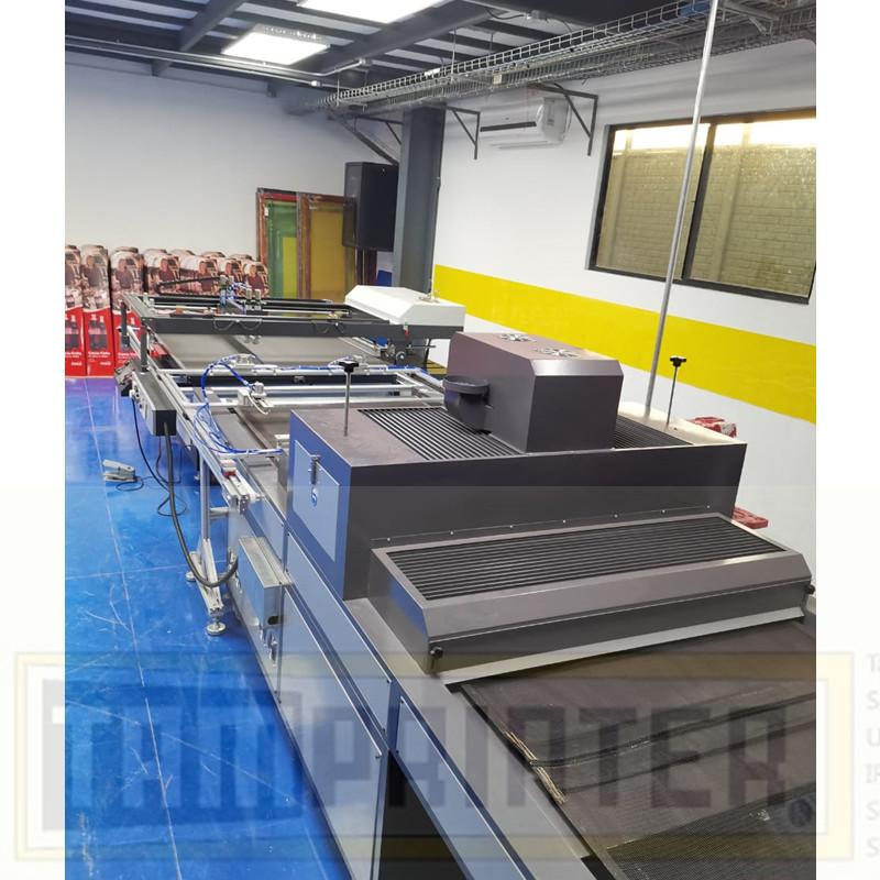 big size Automatic screen printing machine for sheet with automatic blanking 7