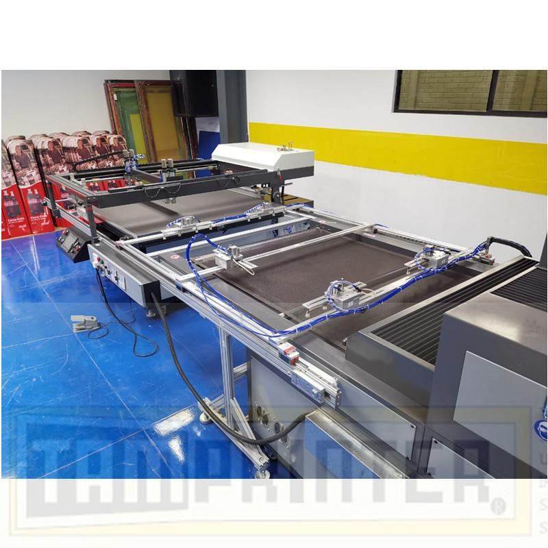 big size Automatic screen printing machine for sheet with automatic blanking 8