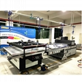 big size Automatic screen printing machine for sheet with automatic blanking 3